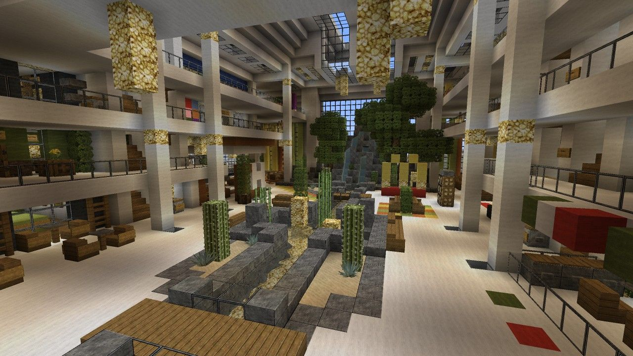 Mall Shopping Center Beach Town Project Minecraft Project Minecraft Projects Minecraft Shops Minecraft City