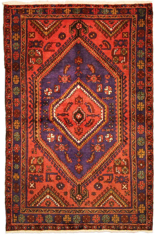 Tarum Perser Handgeknüpft Orientalisch Teppich 201 X 132