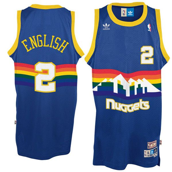 premium selection dd8a5 924ea Alex English Vintage 80's Throwback Basketball Jersey ...