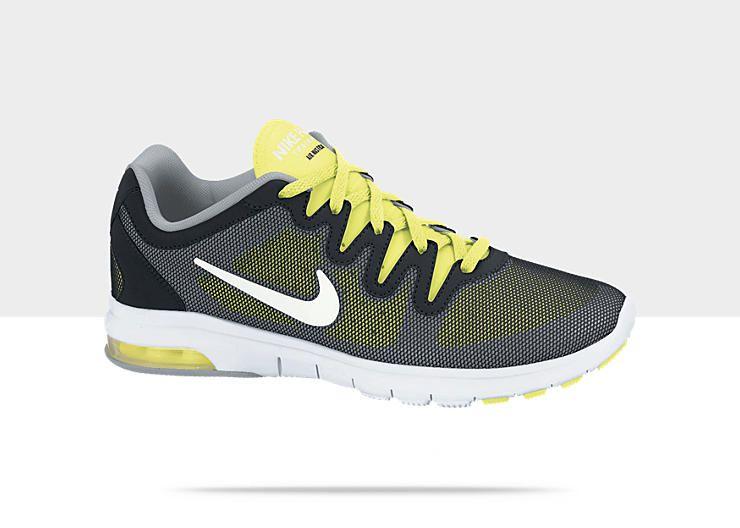 Femmes Nike Chaussures De Formation De Fusion Air Max Noir / Blanc / Volt