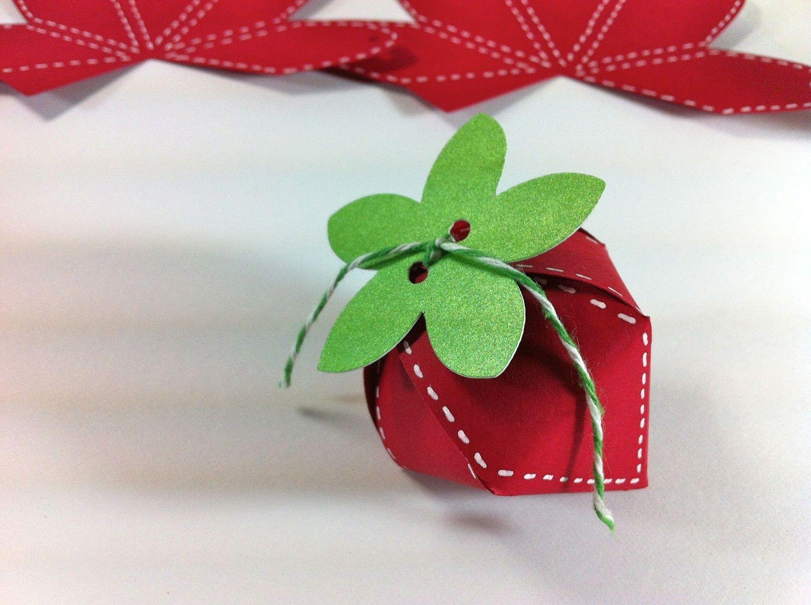 Strawberry Box Template Tutorial: cute strawberry craft ...