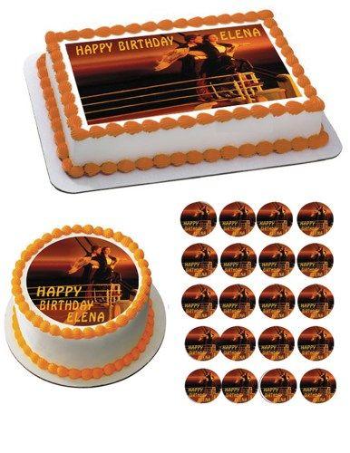 TITANIC Edible Birthday Cake OR Cupcake Topper Decor