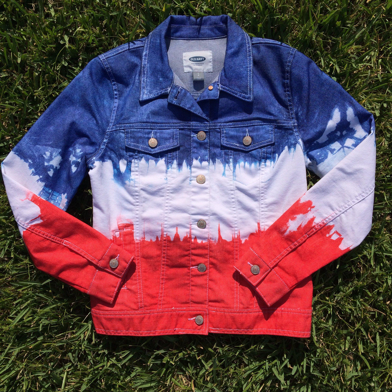 Ladies Small Red White And Blue Tie Dye Denim Jacket Tie Dye Etsy Tie Dye Denim Tie Dye Jeans Blue Tie Dye [ 2448 x 2448 Pixel ]