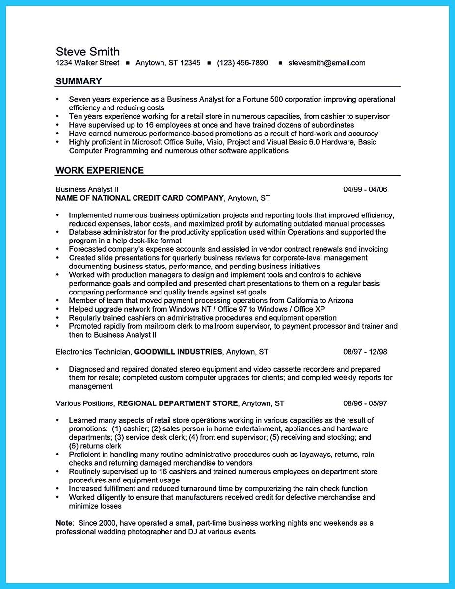 Business Intelligence Analyst Resume Unique Cool Create Your Astonishing Business Analyst Resume And Gain The