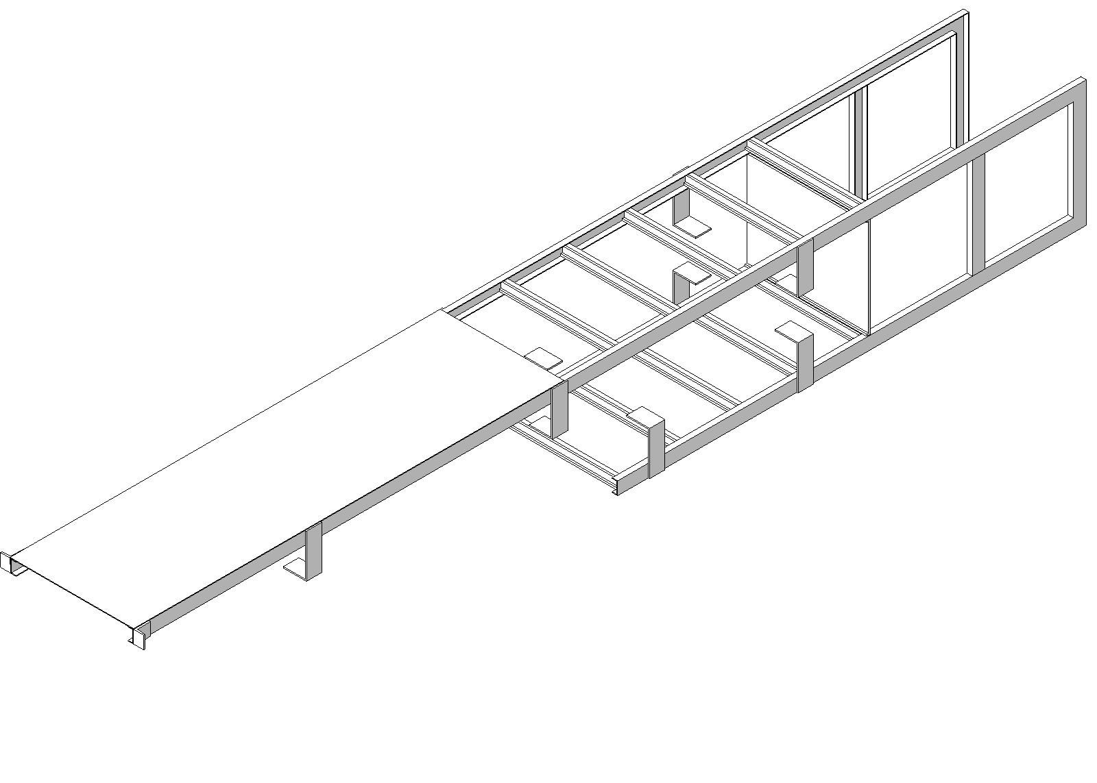 Precision Ladders Fixed Ladder Walk Thru With Return With Security Door Aluminium Ladder Ladder Security Door