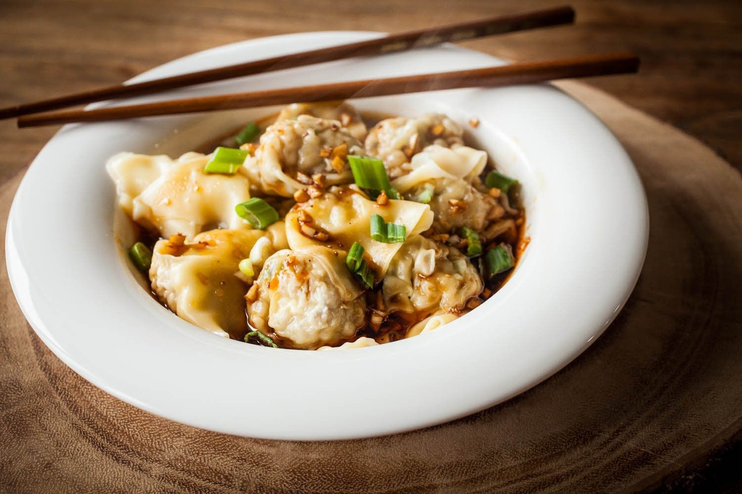 How to make sichuan wontons asian recipies pinterest cooking easy to make pork and scallion filled wontons in a spicy sichuan sauce with a video tutorial forumfinder Choice Image