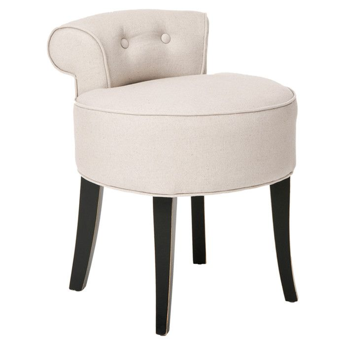 I Pinned This Safavieh Hannah Vanity Chair In Beige From The Bedroom On A Budget Event At Joss Main Cute For Master Bathroom