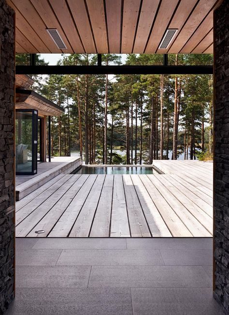 Joarc I Architects Holiday Villas Outdoor Pool Finland Scandinavian Architecture Timber Cladding Su Scandinavian Architecture Architecture Facade House