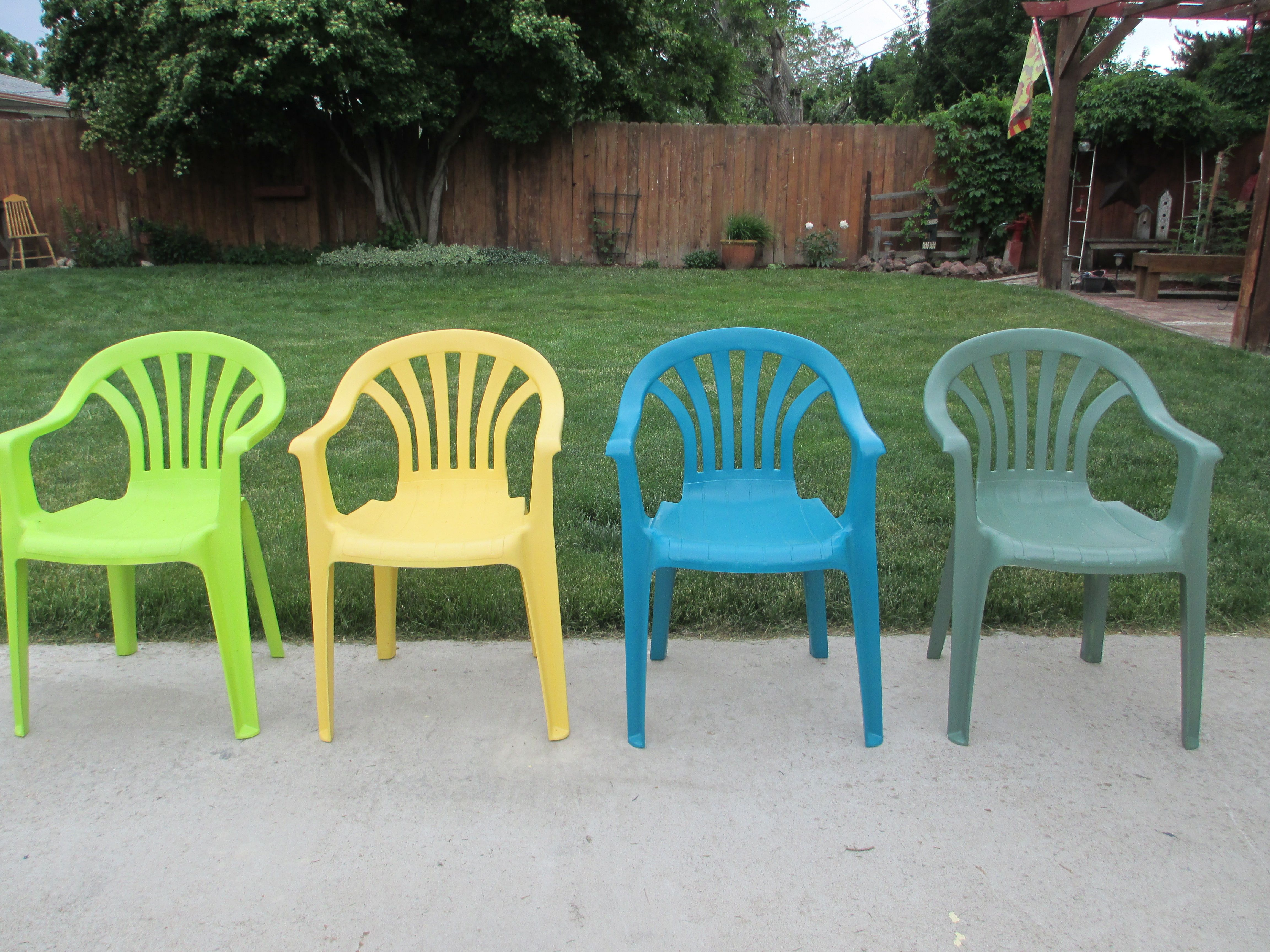 Our Plain White Plastic Lawn Chairs Needed A Facelift This