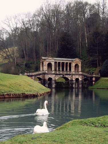 Palladian Bridge in Prior Park, Bath (GB)