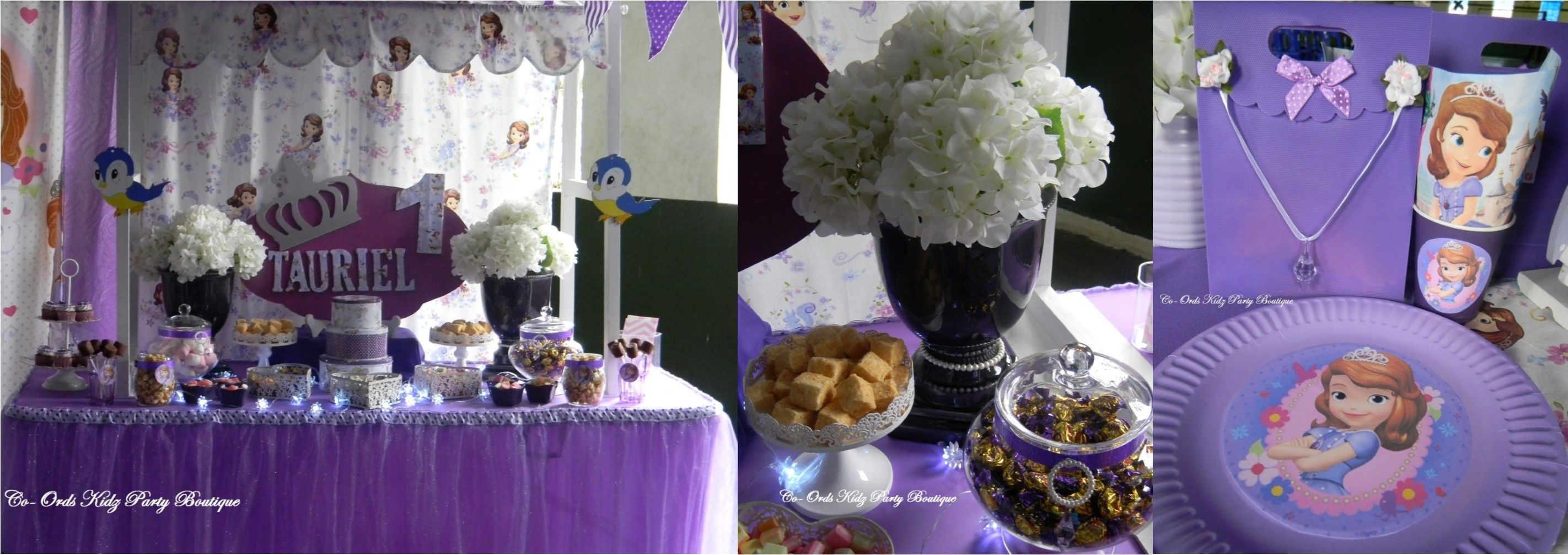 Sofia the 1st Candy Table and kiddies party by Co-Ords Kidz Party Boutique