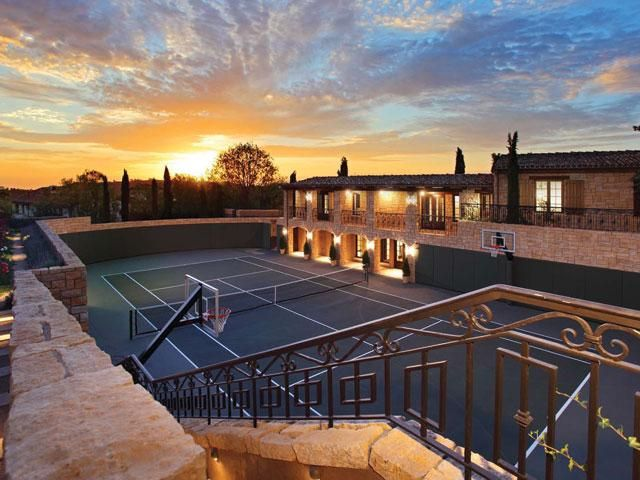 Just An Incredible Photograph Of Someones Amazing Backyard Outdoor Basketball Court Home Basketball Court California Outdoor