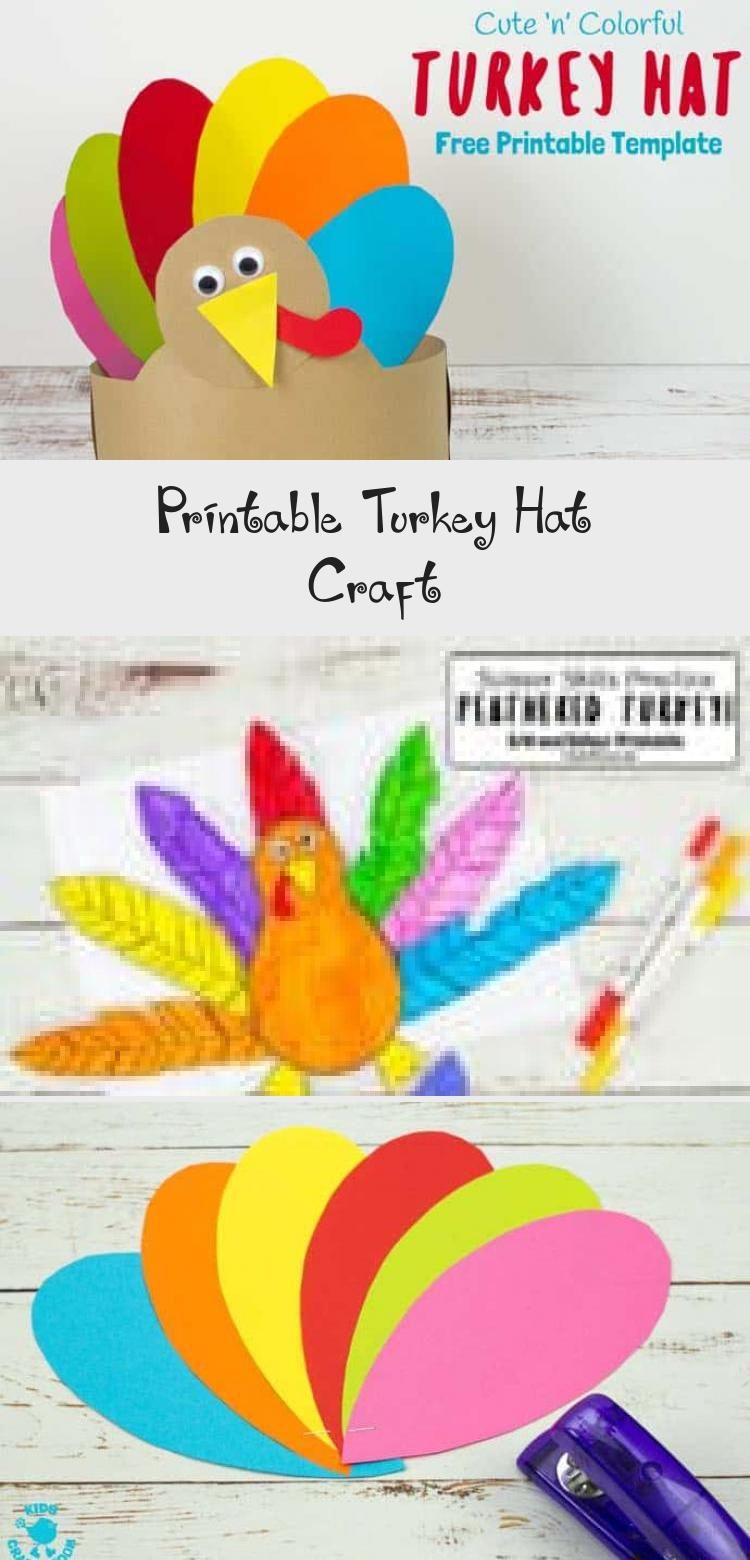 Looking for an easy Thanksgiving craft the whole family can enjoy This Free Printable Turkey Hat Craft is so cute and colourful Its a simple Fall paper craft so just down...