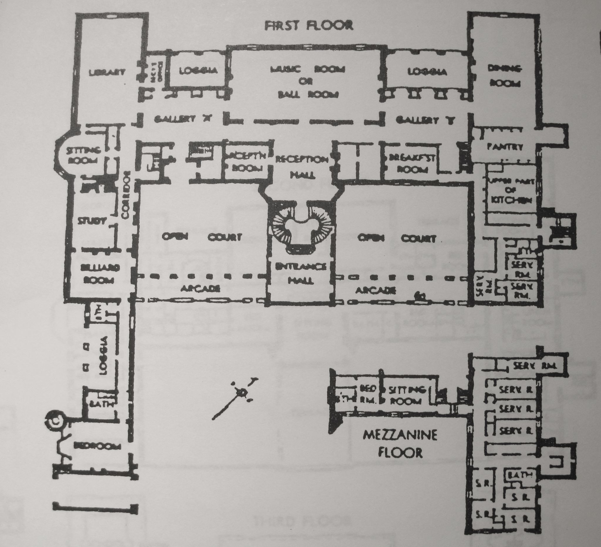 1st Floor Oheka Castle Floor Plan Oheka Castle Interior Architectural Floor Plans