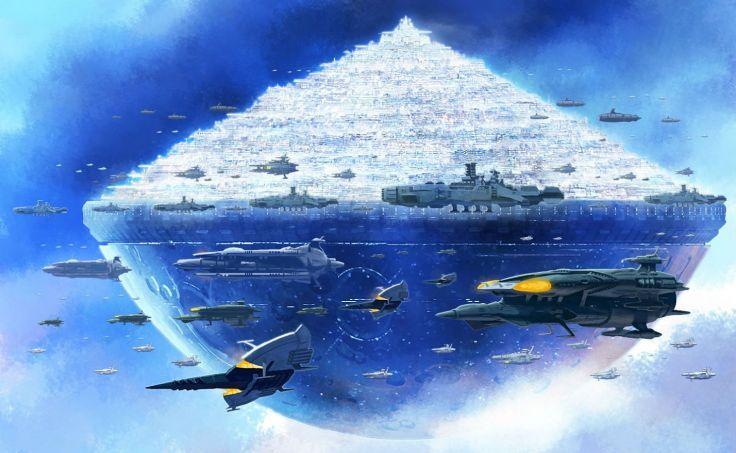 Aircraft City Fmu Space Battleship Yamato Wallpaper Background Space Battleship Battleship Yamato