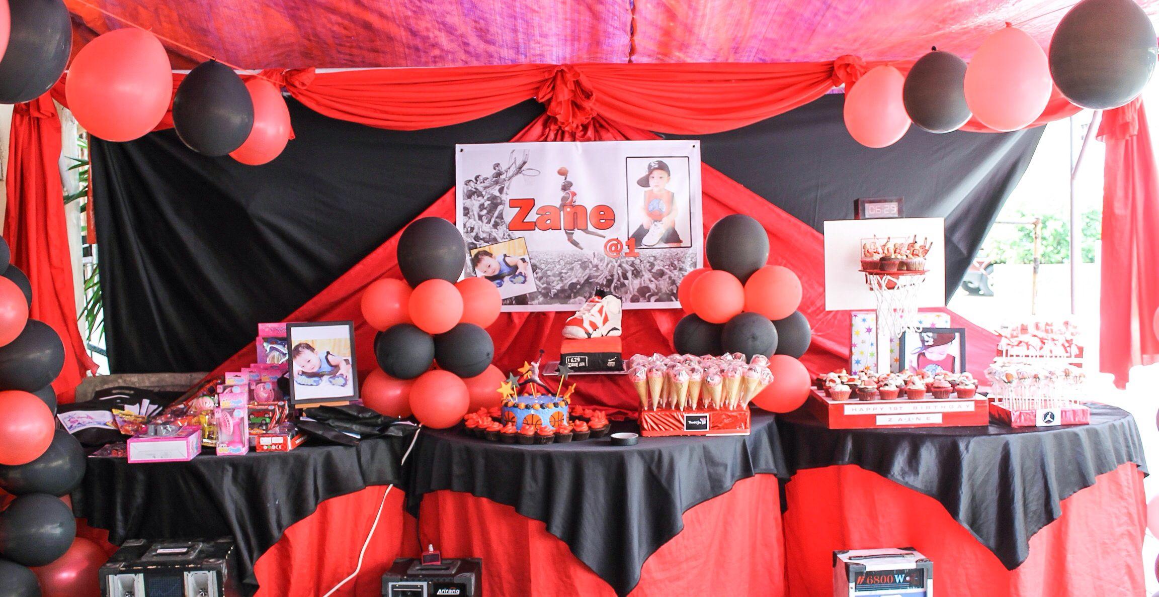 Zane S 1st Birthday Jordan Party Theme Birthday