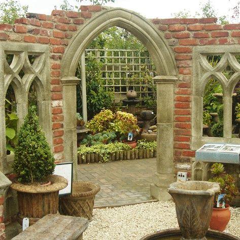 Gothic Folly Garten Ruine Exbury Church Krautergarten Palette Kinder Garten Ruinen