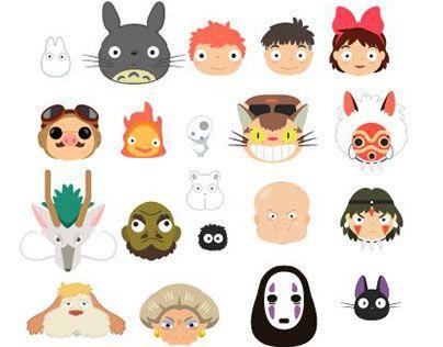 Several Icons From Studio Ghibli Im Currently Developings Ghibli Kawaii Stickers Studio Ghibli