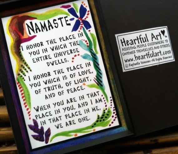 Motivational Quotes Fridge Magnet Namaste
