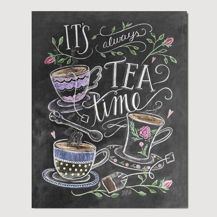 Tea Lover Gift Itu0027s Always Tea Time Tea Party by LilyandVal Home