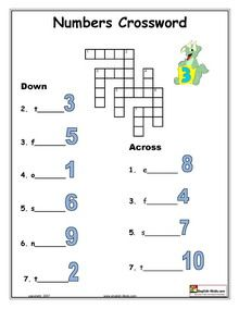 ESL, English vocabulary, printable worksheets on dates and numbers ...