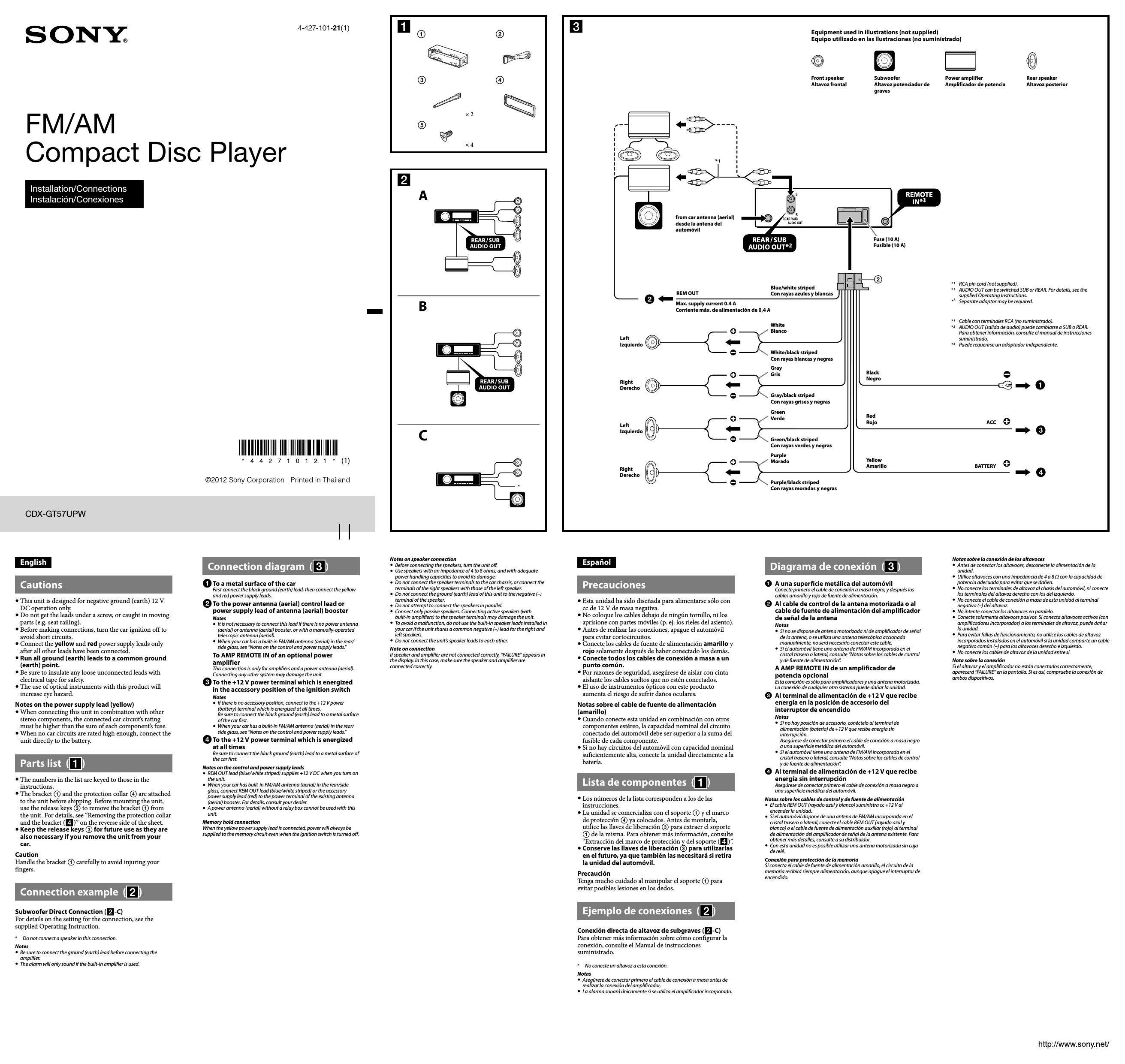 Best Of Sony Cdx Gt570up Wiring Diagram In