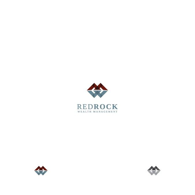 Redrock Wealth Management Logo Management Logo Logo Branding