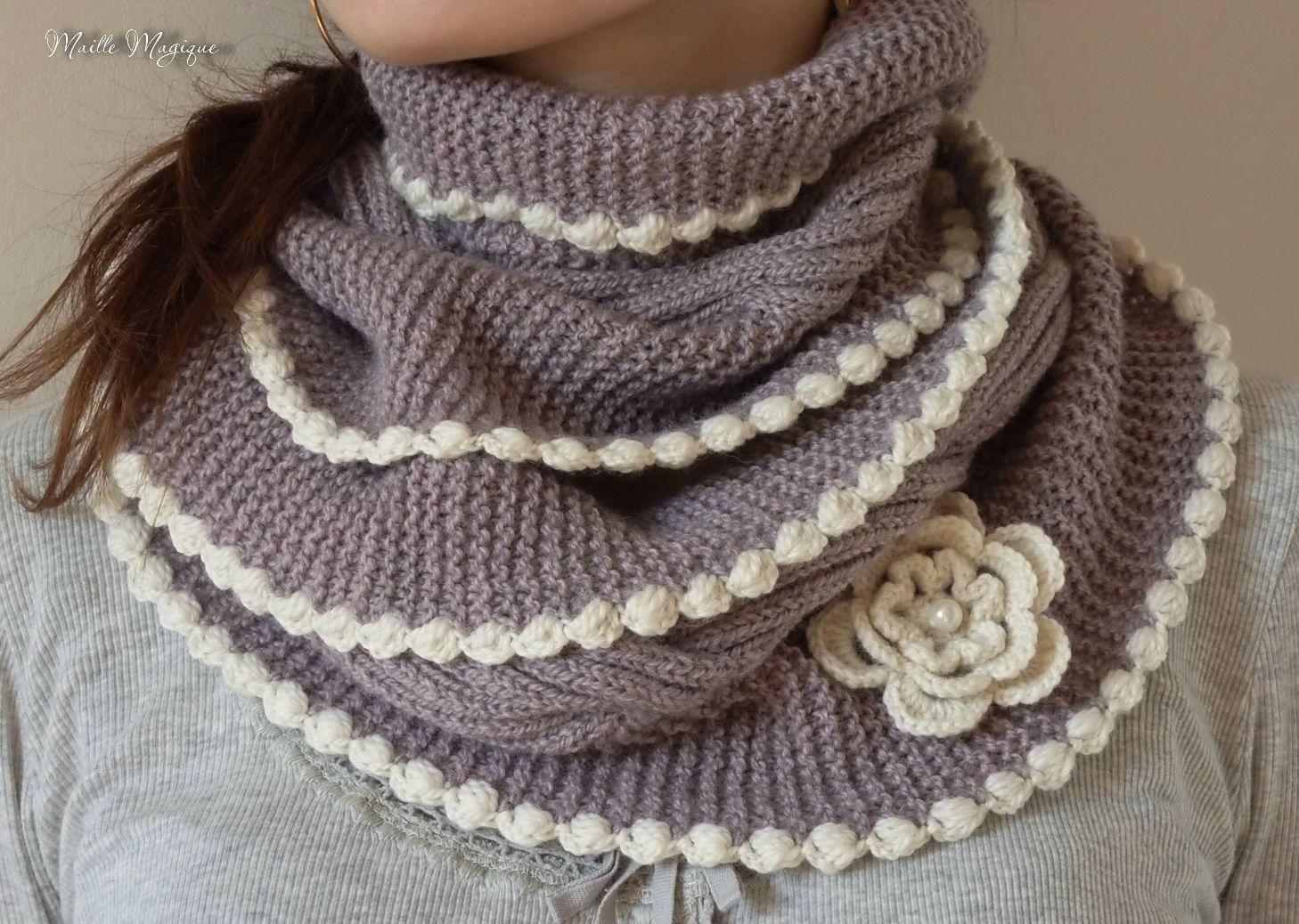 Bien connu comment tricoter un snood femme | Tricot | Pinterest | Snood femme  VC67