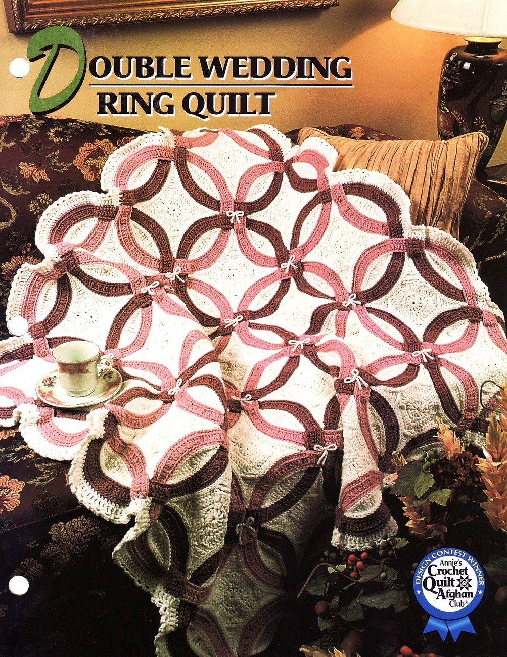 Free Crochet Wedding Ring Quilt Pattern : Double Wedding Ring Quilt Afghan Crochet Pattern Annies ...