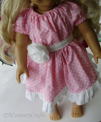 Boutique Peasant (Doll) Dress Tutorial — PACountryCrafts #dolldresspatterns