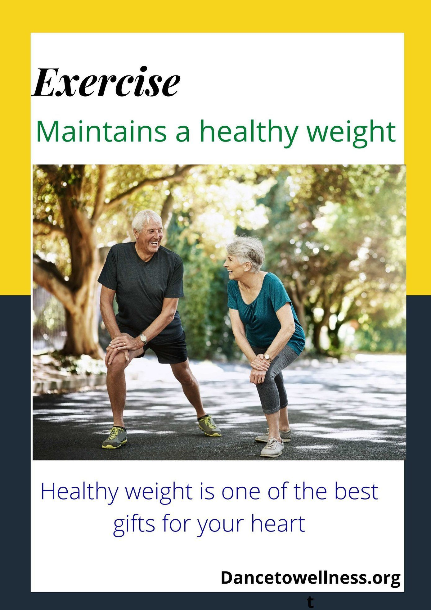 Maintaining a healthy weight is one of the best gifts for your heart. As we grow older, we tend to become less active, our bodies gains excess weight, which makes the heart to work harder. Exercise helps us to maintain a healthy lifestyle and reduce excess weight. #Weight #Heart #Fitness #DTW