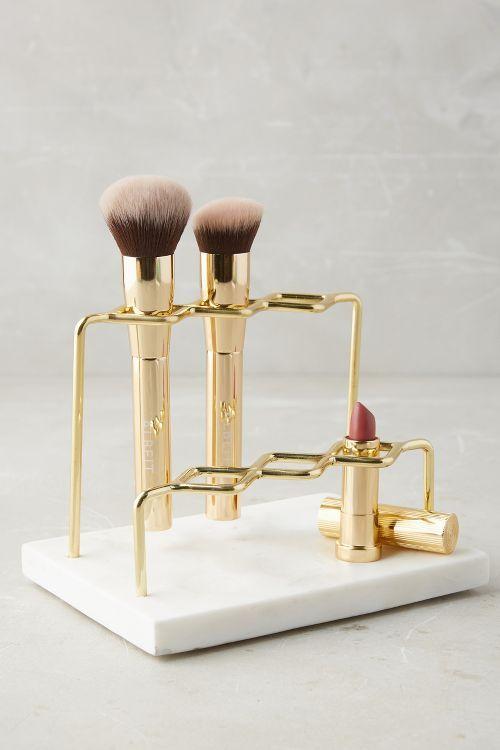 Magnificent Marble And Gold Vanity Organizer Makeup Organizer Beauty Interior Design Ideas Skatsoteloinfo