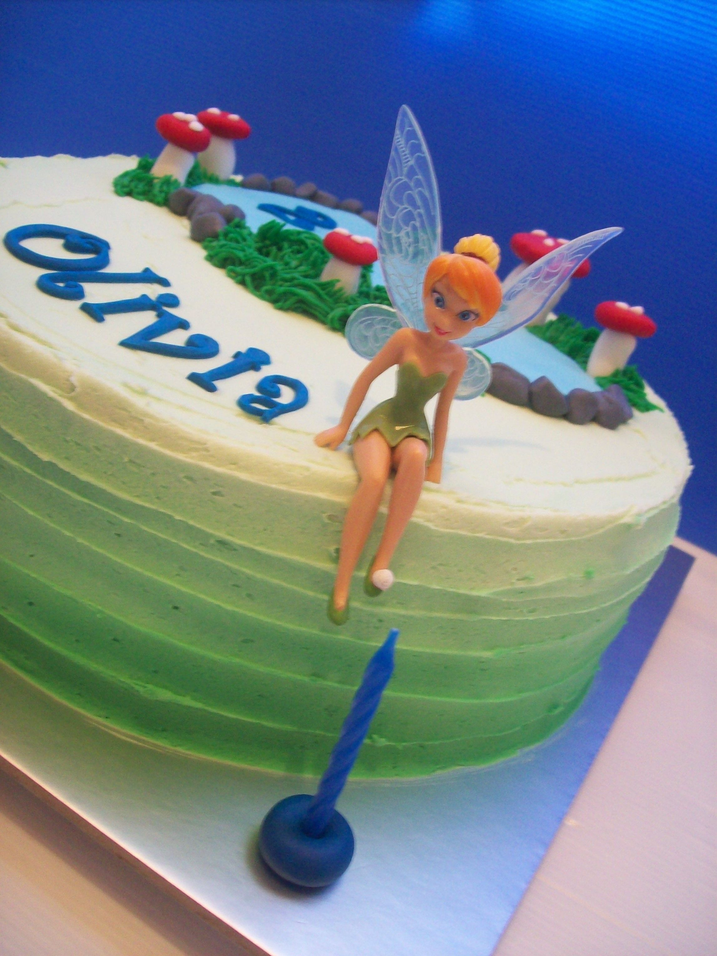 Tinkerbell Cake Auckland 175 10 Inch FREE Delivery Within Non Rural Figurines Bought From A Licensed Retailer