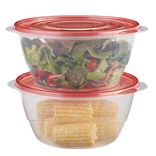 Rubbermaid TakeAlongs Serving Bowls Food Storage Container 2Pack 157 Cup Tint Chili Red *** For more information, visit image link.