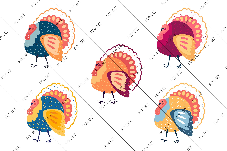 Funny Colorful Turkeys Clip Art Thanksgiving Day Illustrations Design For Print Turkey Clip Art Clip Art Art