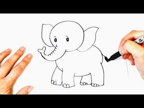 How To Draw An Elephant Easy Drawing Viviana Magazine Elephant Drawing Easy Drawings Drawings