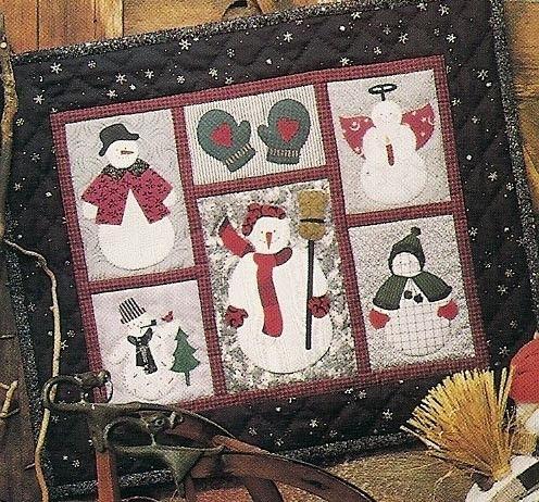 Applique Pattern Quilt Snowman Free Patterns Christmas