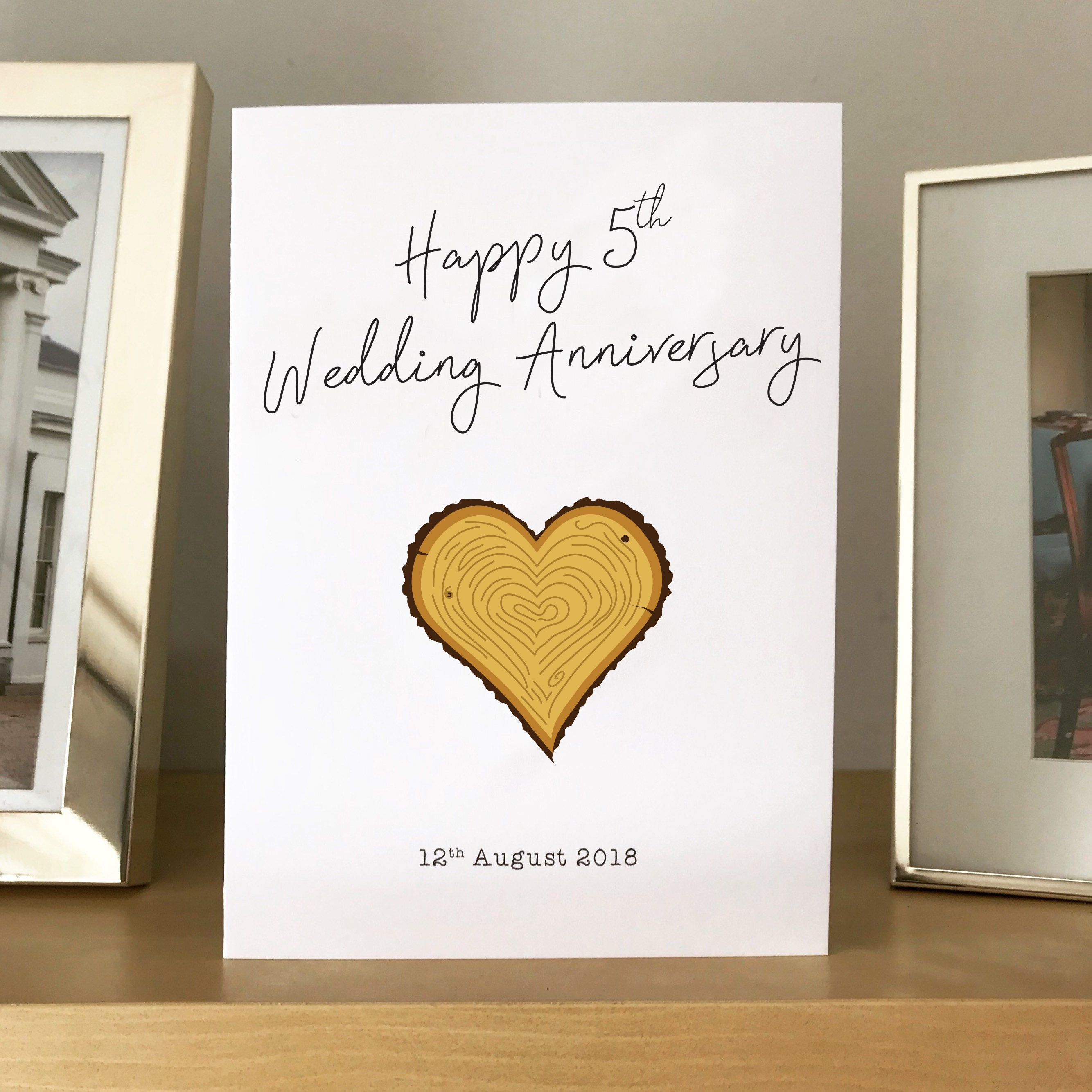 5th wedding anniversary card designed by joe wedding