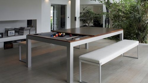 Sleek Hideaway Pool Table With Images Pool Table Dining