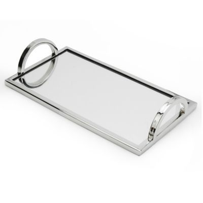 3 Clic Modern Wood Mirror Tray In Polished Silver Aluminum Exterior And Gl Interior