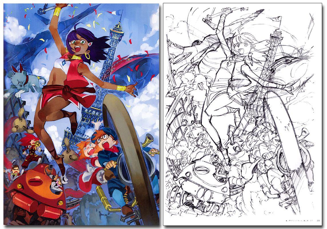 Art of yoh yoshinari illustrations art book anime books