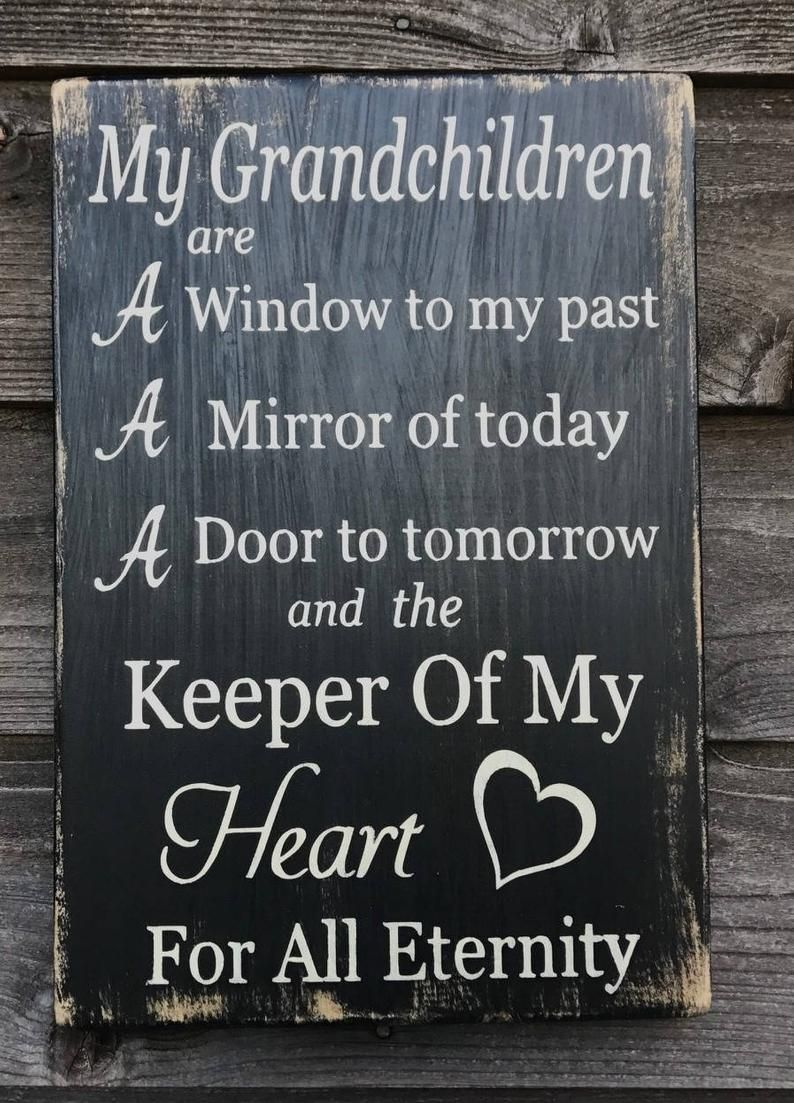 grandparents sign, grandchildren sign, inspirational gift for grandparents, primitive rustic sign, gift for grandparents, farmhouse sign