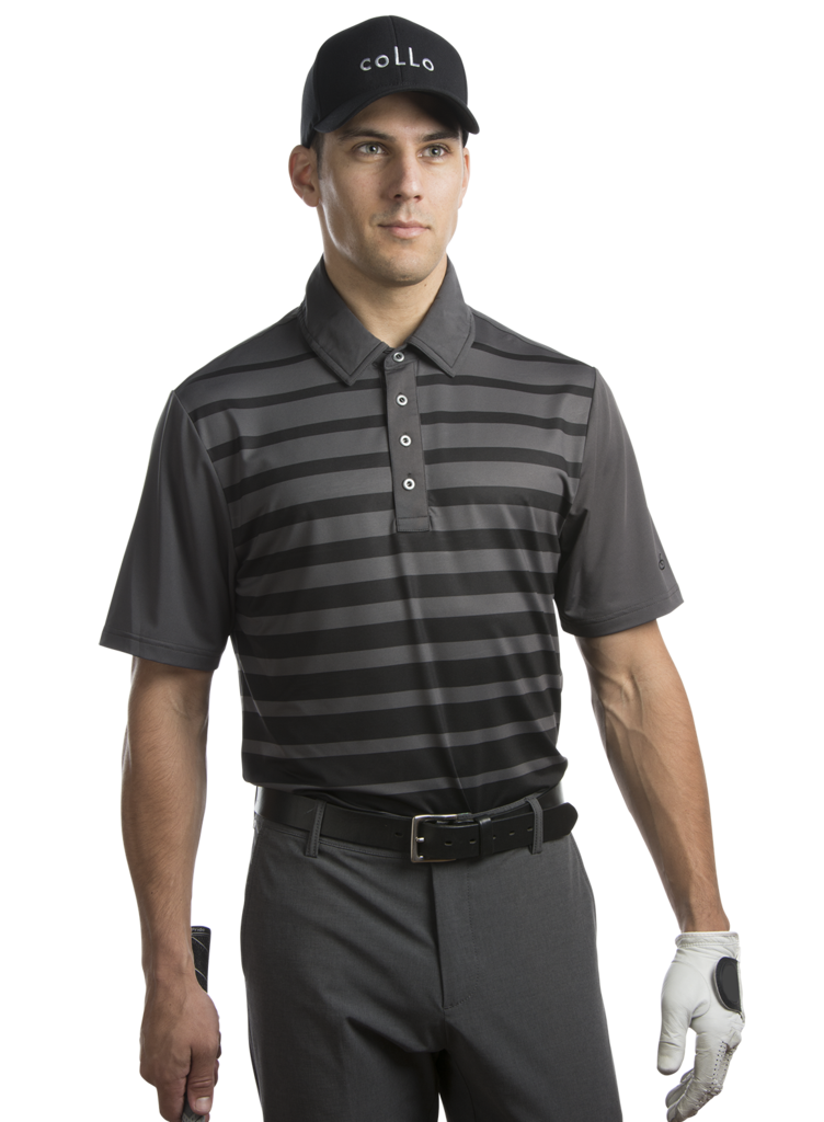 Racer Athletic Fit Short Sleeve Recycled Jersey Mens Golf Shirt