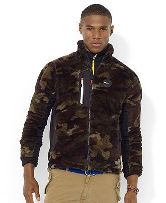 7d79698c73b0b Polo Ralph Lauren Jacket, RLX Zip-Front Camo Micro-Velour Jacket - Hoodies  & Fleece - Men - Macy's