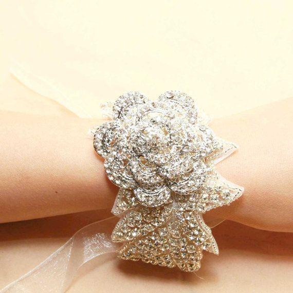 Rose Wedding Bridal Jewelry Rhinestone Crystals by BlingGarden