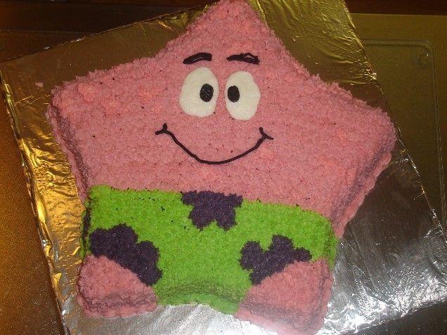 Marvelous Patrick Star Birthday Cake Spongebob Birthday Party Spongebob Personalised Birthday Cards Cominlily Jamesorg