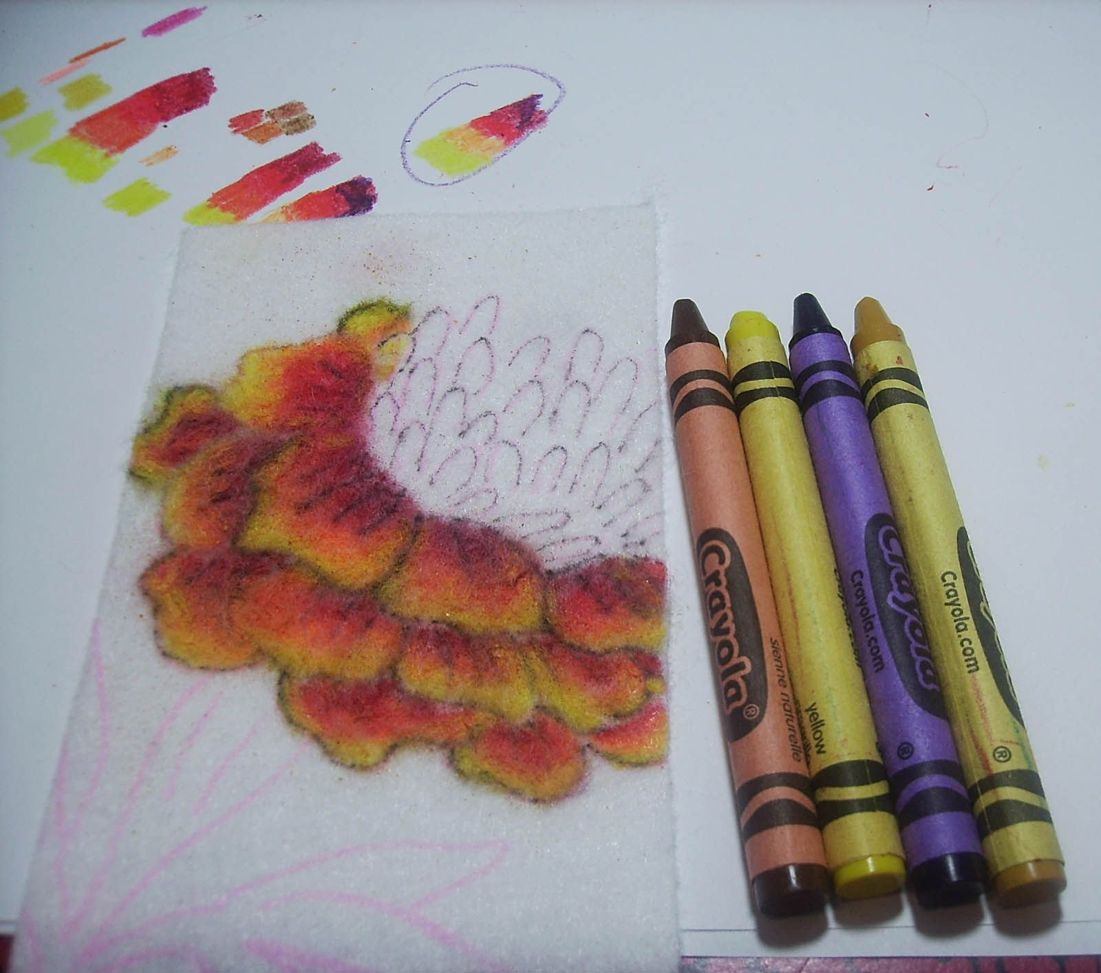 "Embroidery Tools – Crayons – ""Tinting Fabric with Crayons ..."