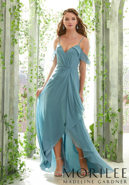 Boho Bridesmaid Dress with Cold Shoulder Sleeves Morilee