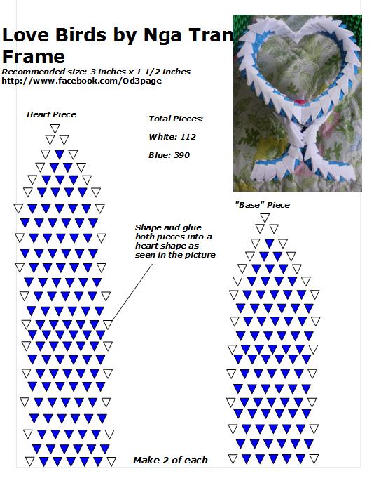Peachy 03 Love Birds Frame Diagram End 3D Origami Bird Origami Wiring Cloud Tziciuggs Outletorg
