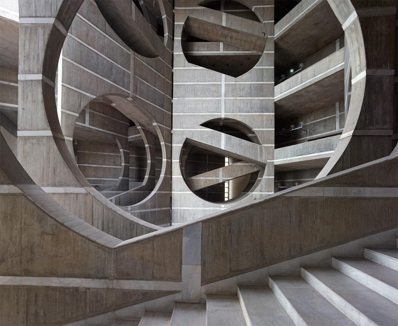 Louis Kahn's National Assembly building in Dhaka, the capital of ...